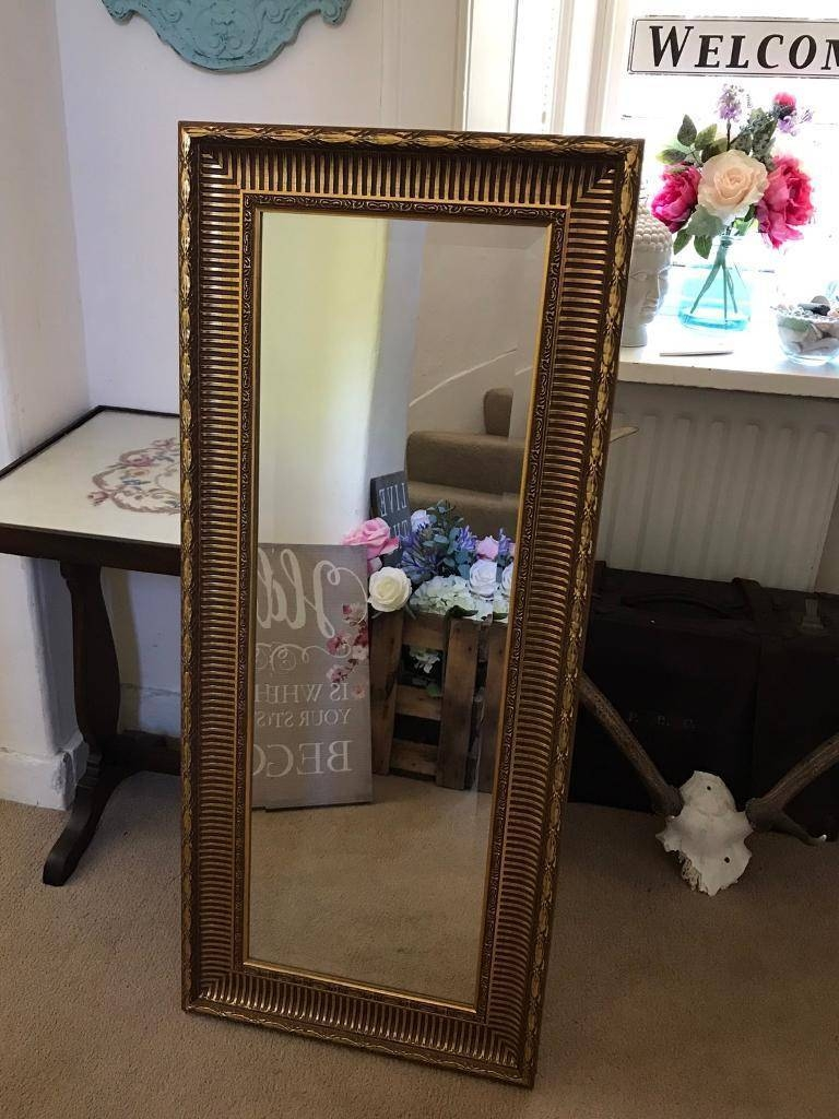 Large Gold Gilt Edged Bevelled Hall Mirror | In Doune, Stirling inside Gilt Edged Mirrors (Image 15 of 25)