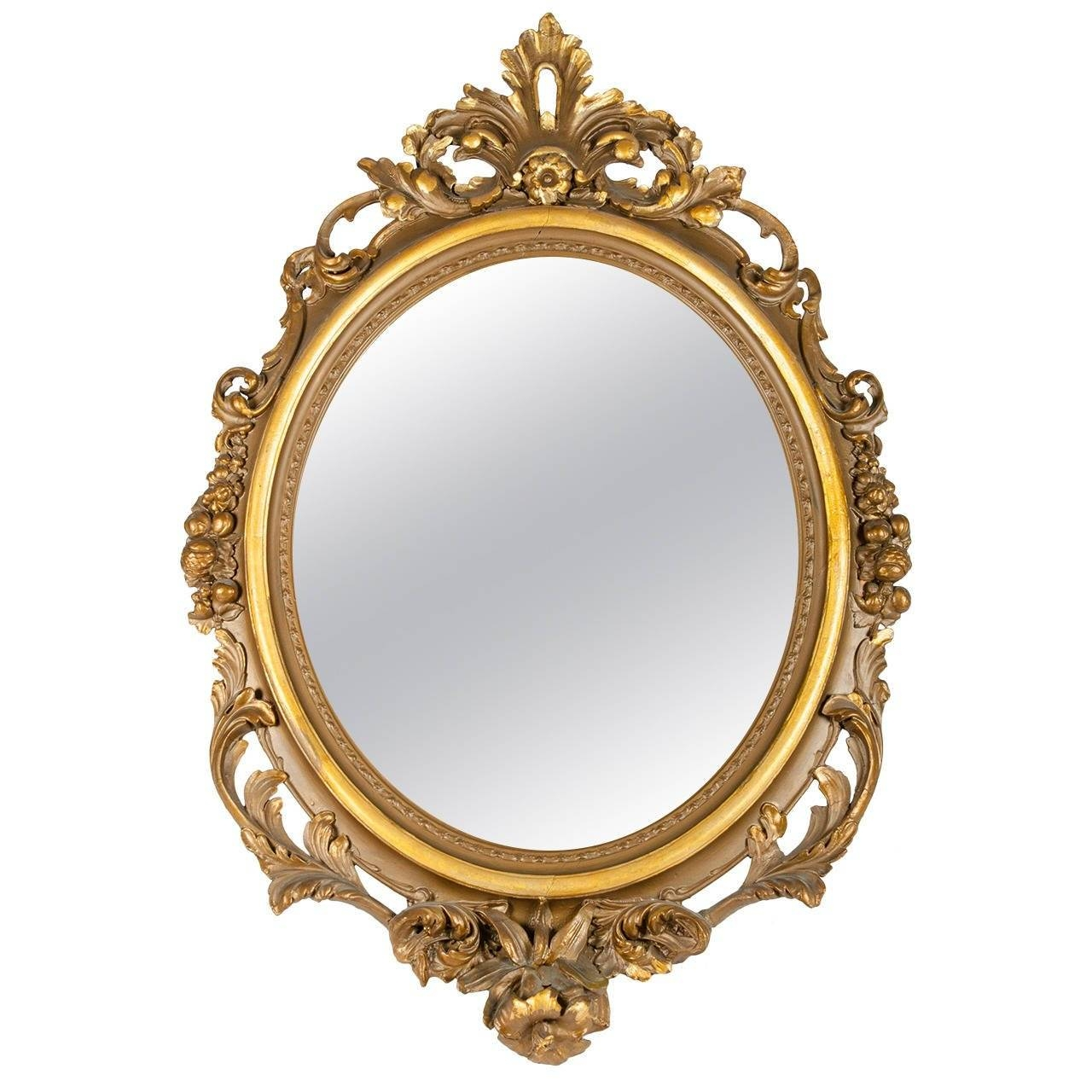 Large Gold Gilt Gesso Mirror For Sale At 1Stdibs for Gilt Framed Mirrors (Image 13 of 25)