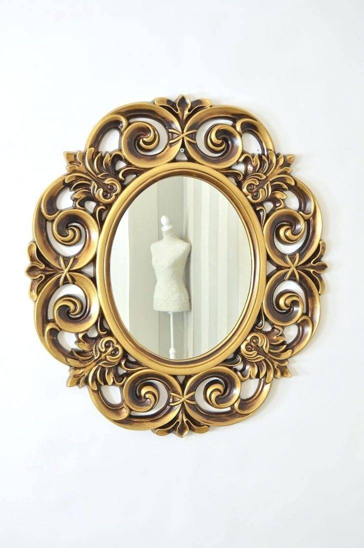 Large Gold Mirror – Amlvideo in Antique Style Wall Mirrors (Image 18 of 25)