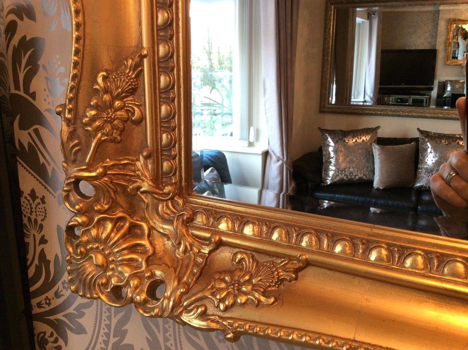Large Gold Mirror – Amlvideo with Large Antique Wall Mirrors (Image 19 of 25)
