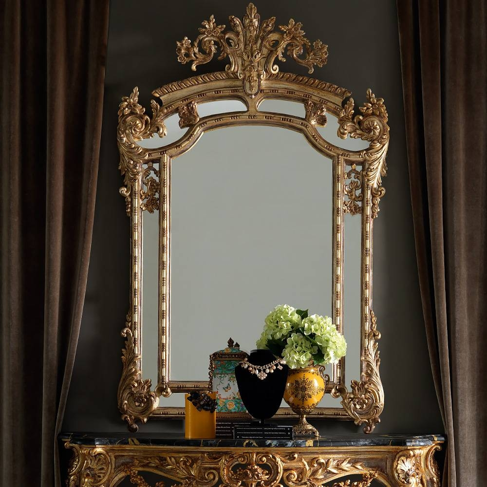 Large Gold Rococo Wall Mirror | Juliettes Interiors - Chelsea, London with Gold Rococo Mirrors (Image 20 of 25)