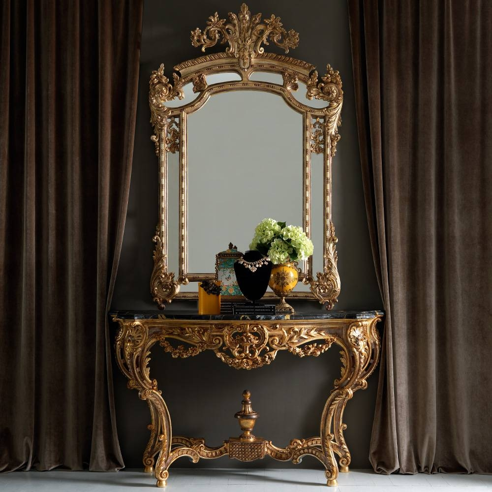 Large Gold Rococo Wall Mirror | Juliettes Interiors - Chelsea, London within Rococo Gold Mirrors (Image 24 of 25)