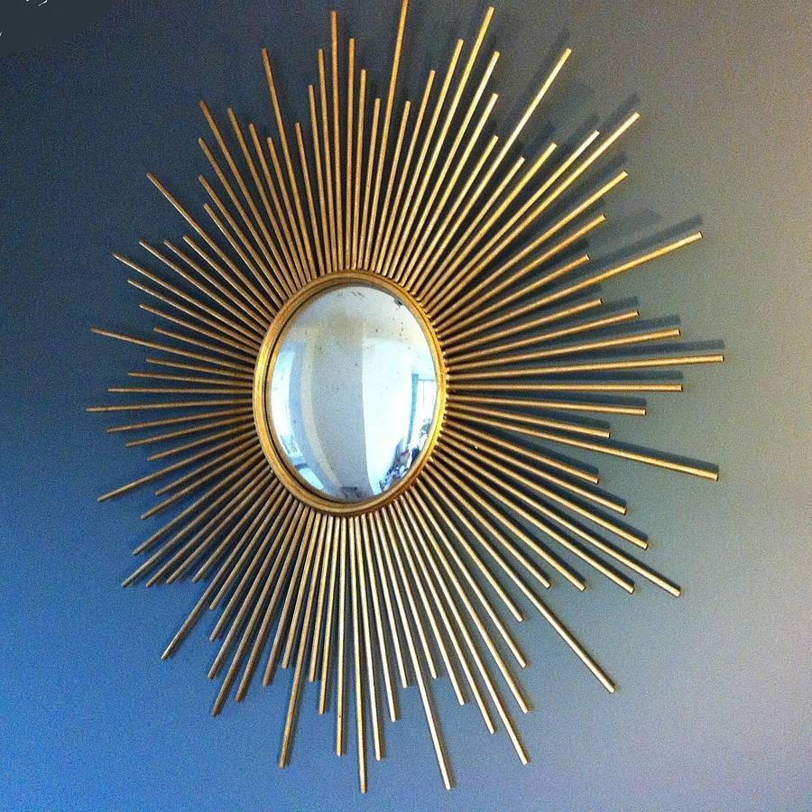 Large Gold Sunburst Mirror – Harpsounds (View 19 of 25)