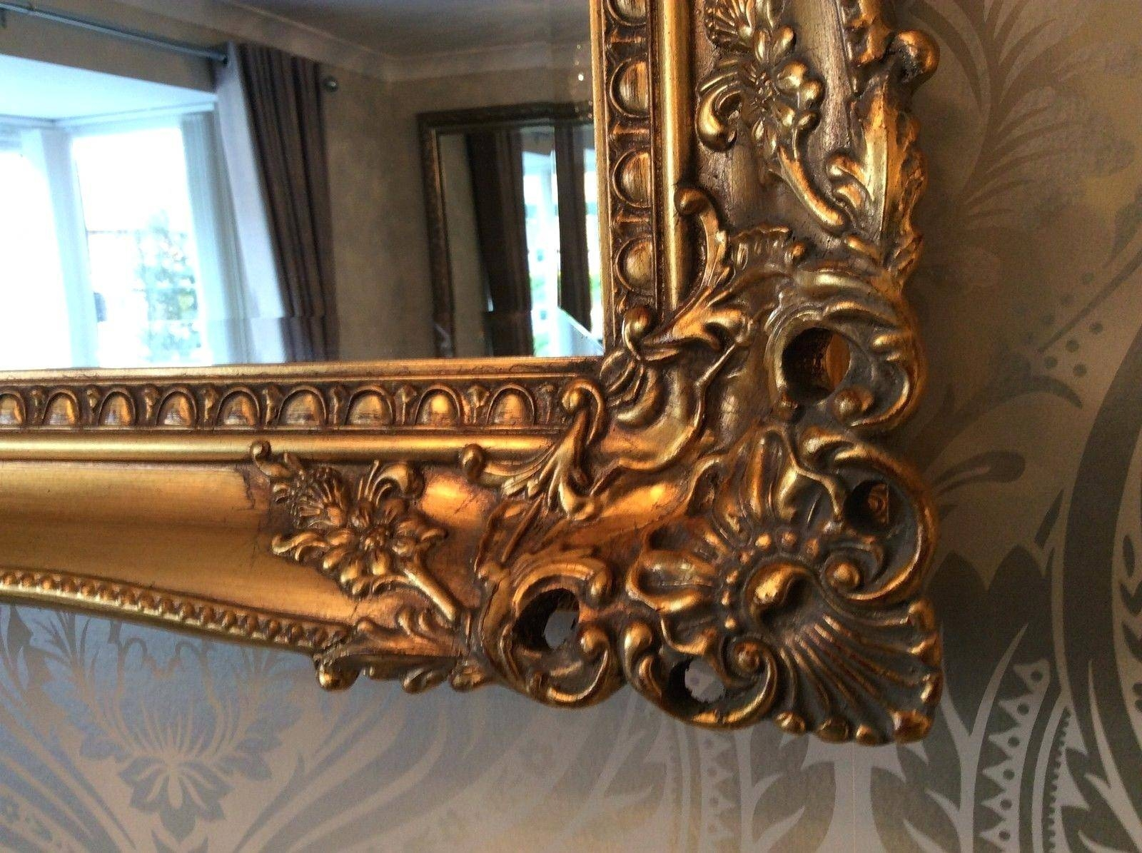 Large Gold Wall Mirror – Amlvideo In Shabby Chic Round Mirrors (View 16 of 25)