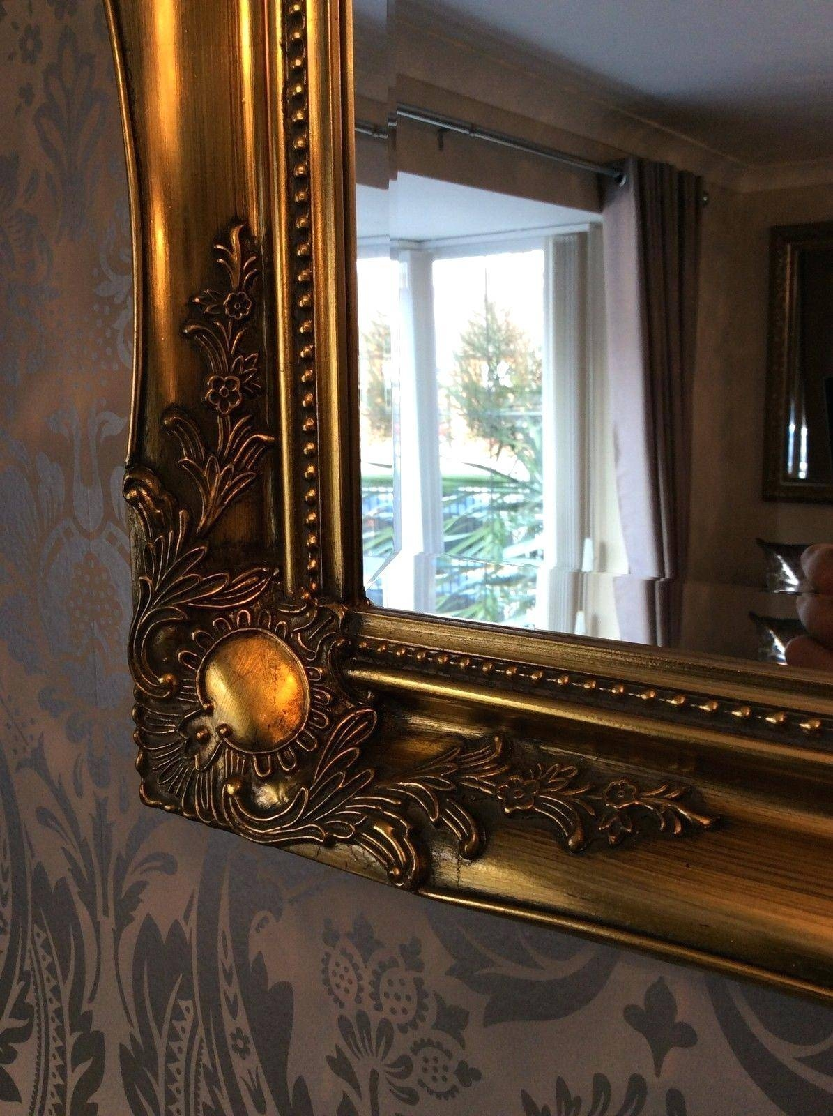 Large Gold Wall Mirror – Amlvideo Pertaining To Shabby Chic Round Mirrors (View 17 of 25)