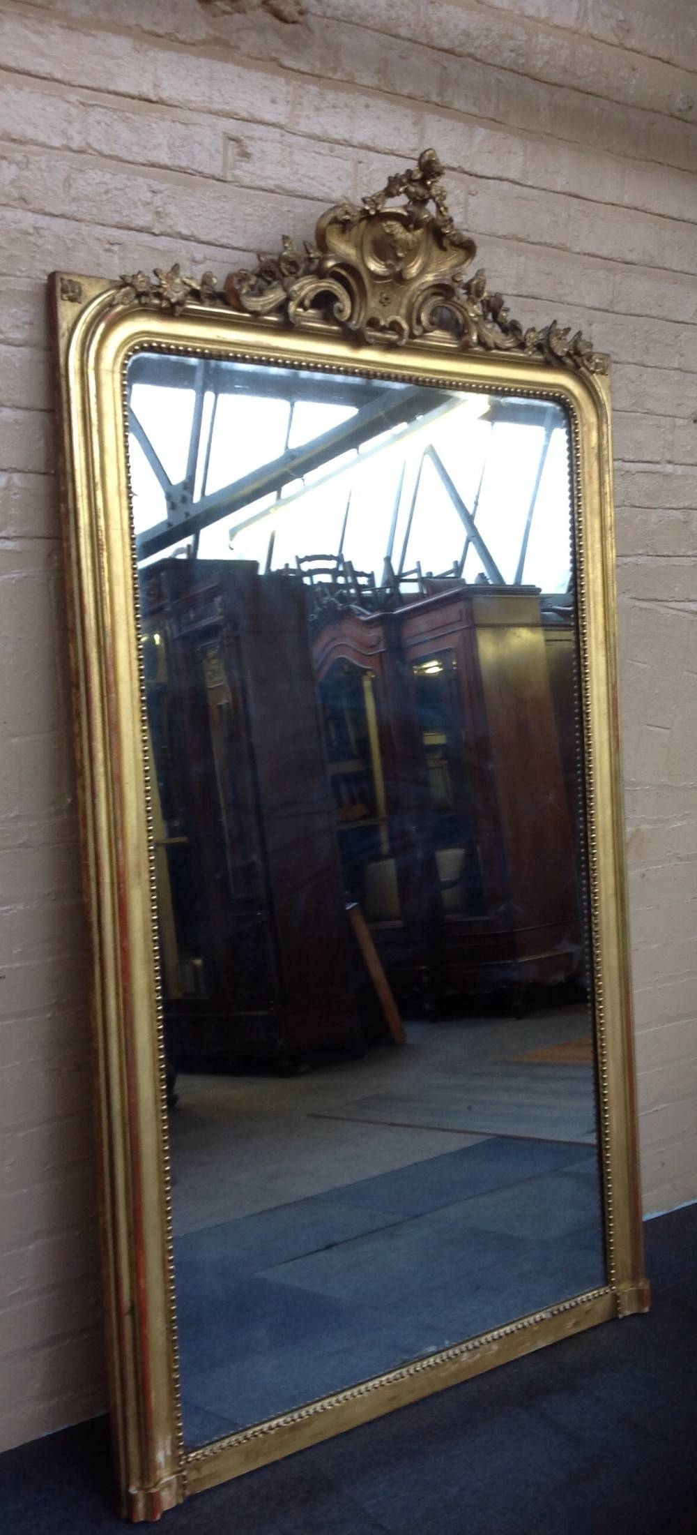 Large Guilt French Wall Mirror | 258781 | Sellingantiques.co (View 13 of 25)