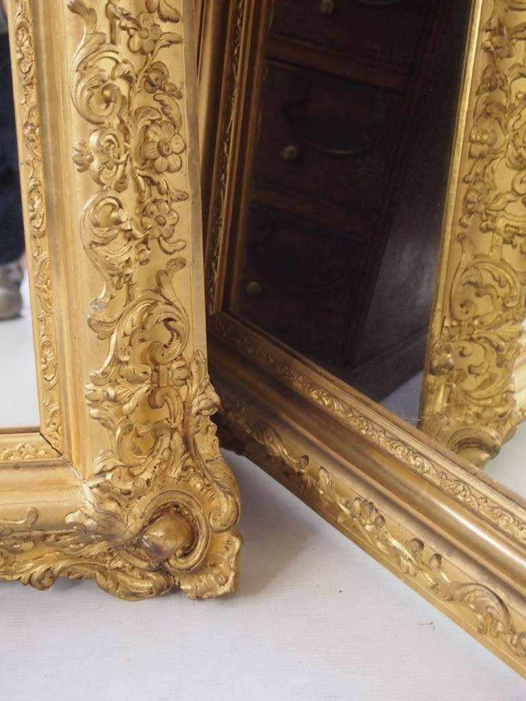 Large Impressive Pair Of Gilt Mirrors - - regarding Gilt Mirrors (Image 17 of 25)
