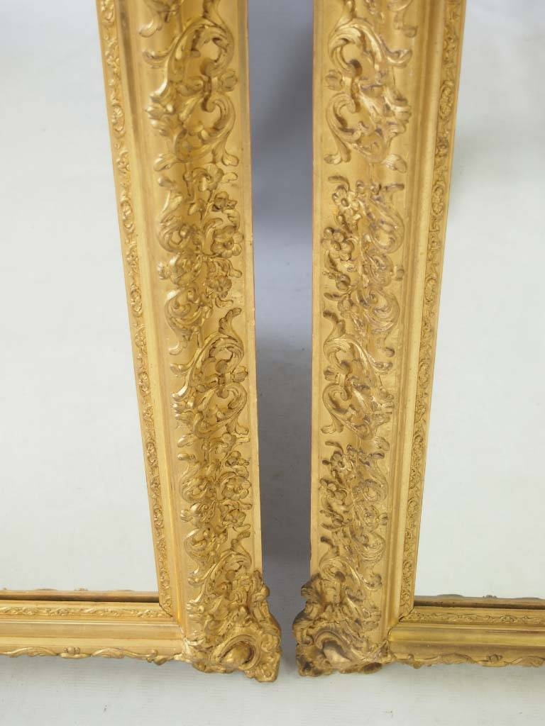 Large Impressive Pair Of Gilt Mirrors – – Throughout Gilt Mirrors (View 18 of 25)