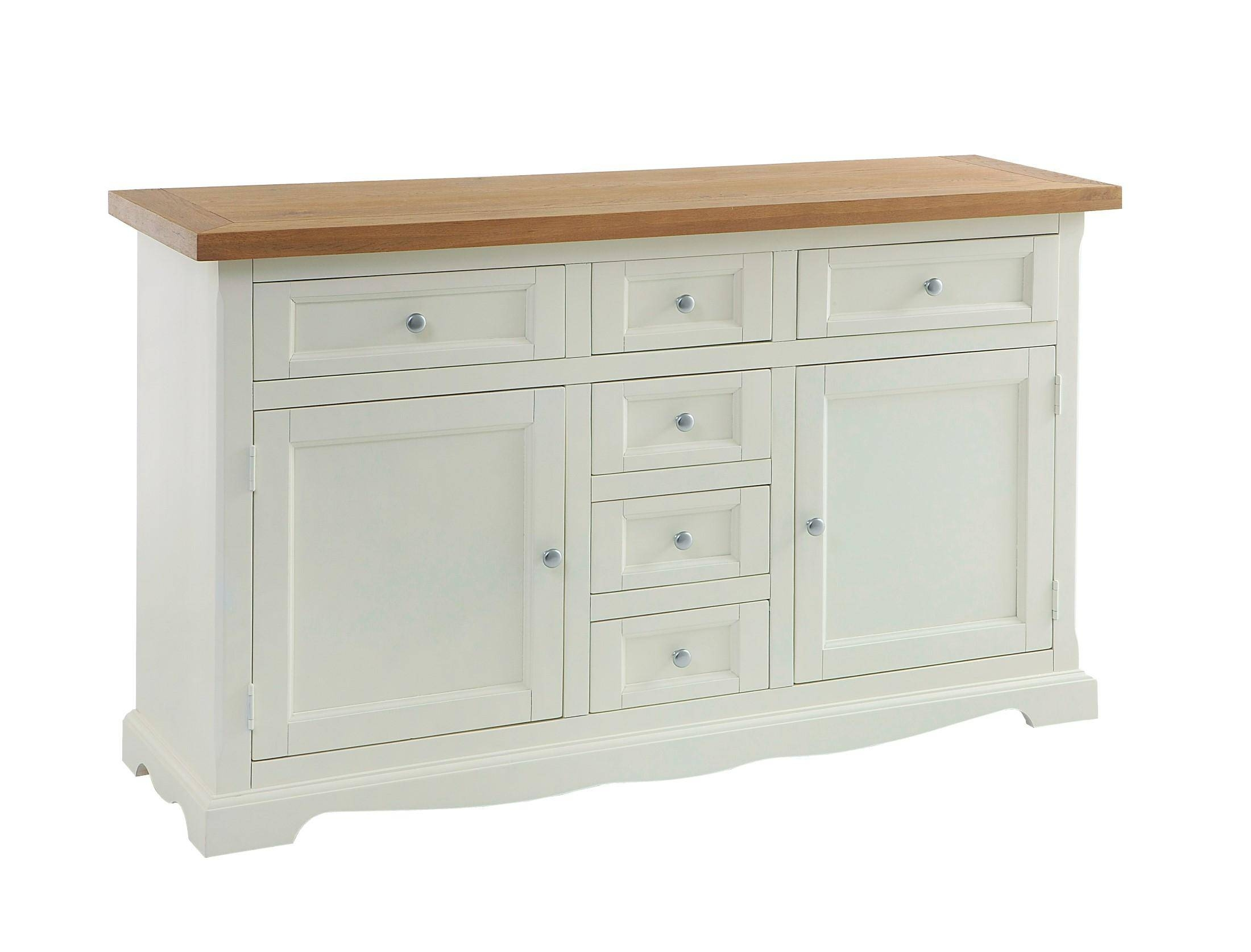 Large Irish Sideboard Cream - Flowerhill Furniture regarding Cream Sideboards (Image 11 of 30)