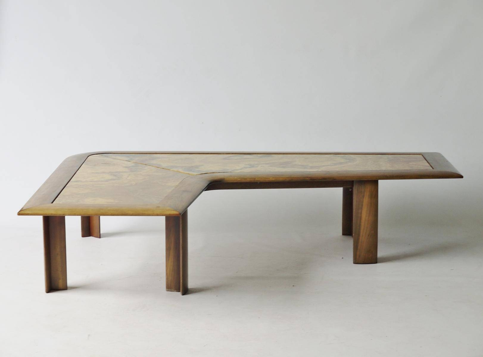 Large L-Shaped Marble Coffee Table, 1970S For Sale At Pamono throughout L Shaped Coffee Tables (Image 22 of 30)