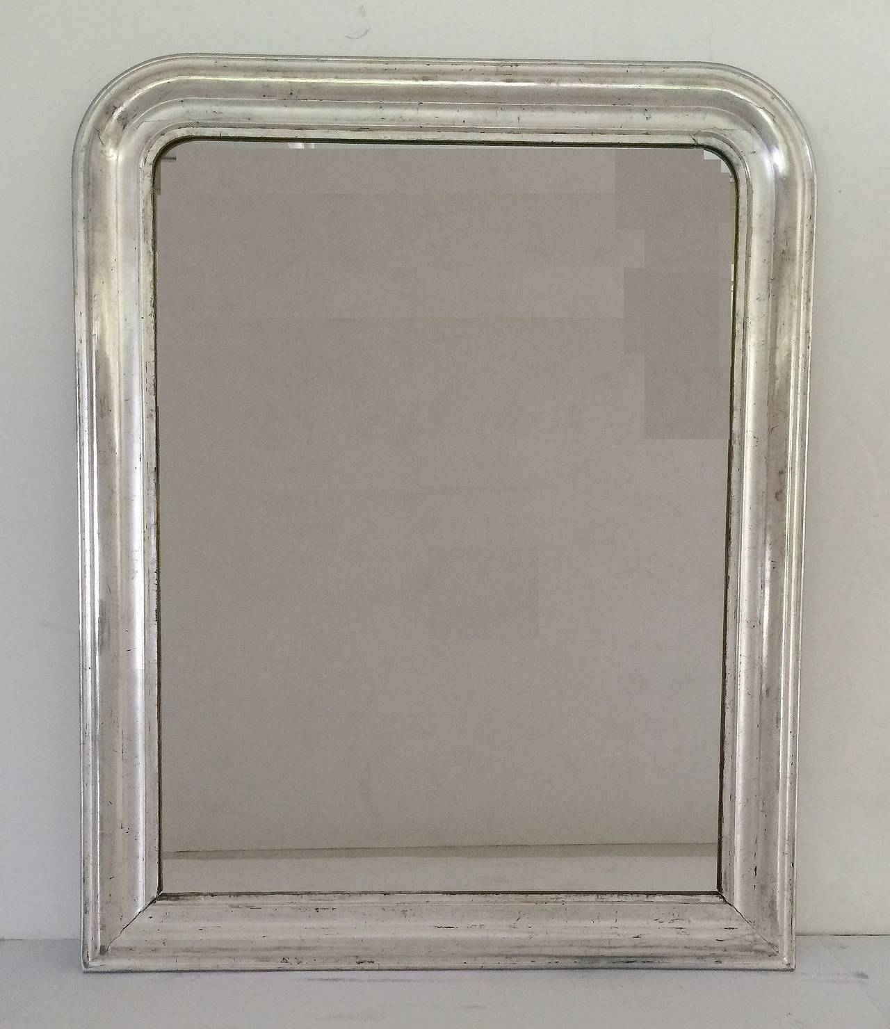 Large Louis Philippe Silver Gilt Mirror (H 44 X W 35) For Sale At with Silver Gilt Mirrors (Image 15 of 25)