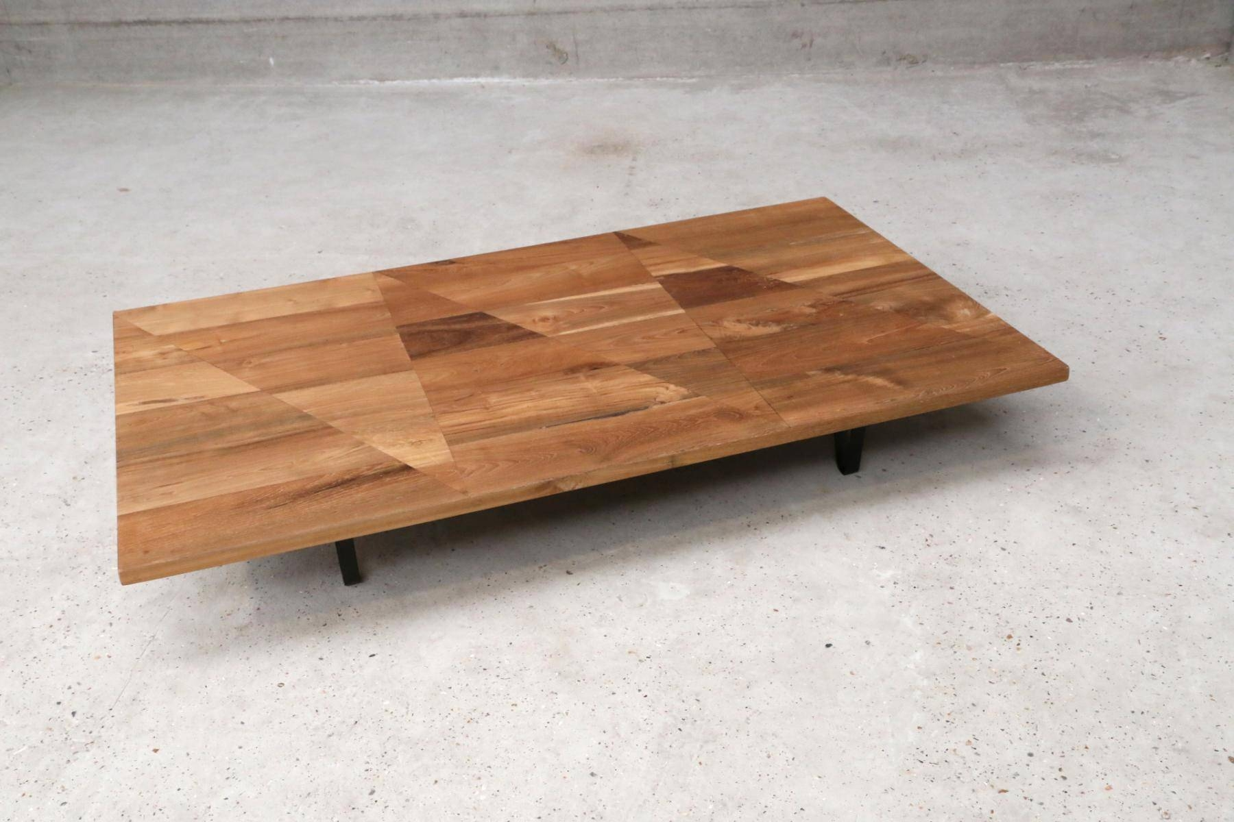 Large Low Coffee Table Tables Wooden Transformed Into Working / Thippo  Throughout Large Low Square Coffee