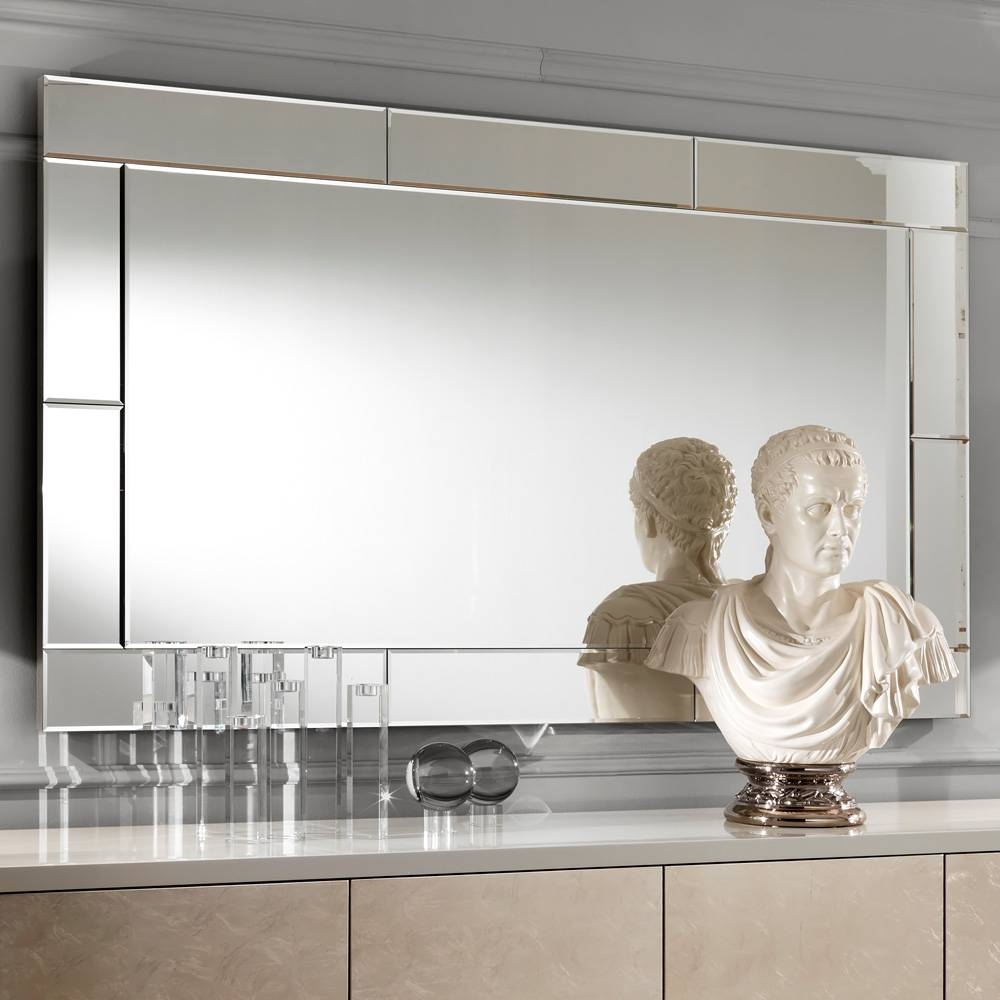 Large Luxury Contemporary Italian Venetian Mirror | Juliettes with Venetian Mirrored Sideboards (Image 7 of 30)