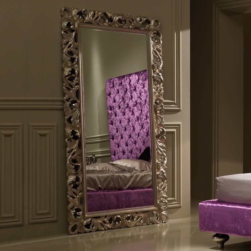 Large Luxury Italian Rococo Champagne Leaf Mirror | Juliettes intended for Champagne Wall Mirrors (Image 17 of 25)
