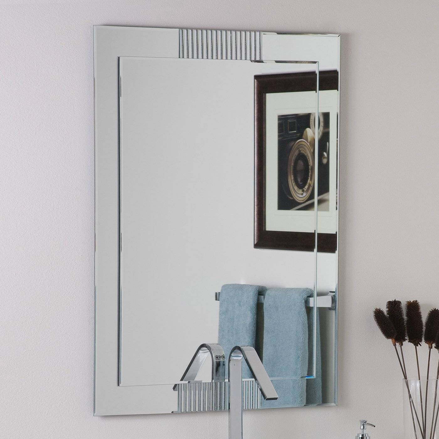Large Mirrors For Living Room Wall Classic And Contemporary Large in Large Frameless Wall Mirrors (Image 17 of 25)