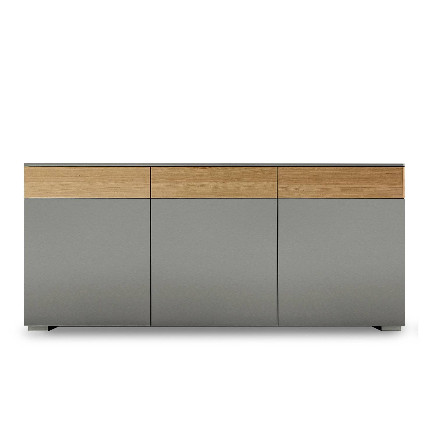 Large Modern Italian Sideboard, L 192 - W 48 - H 80 Cm + Feet At pertaining to Slim Sideboards (Image 17 of 30)