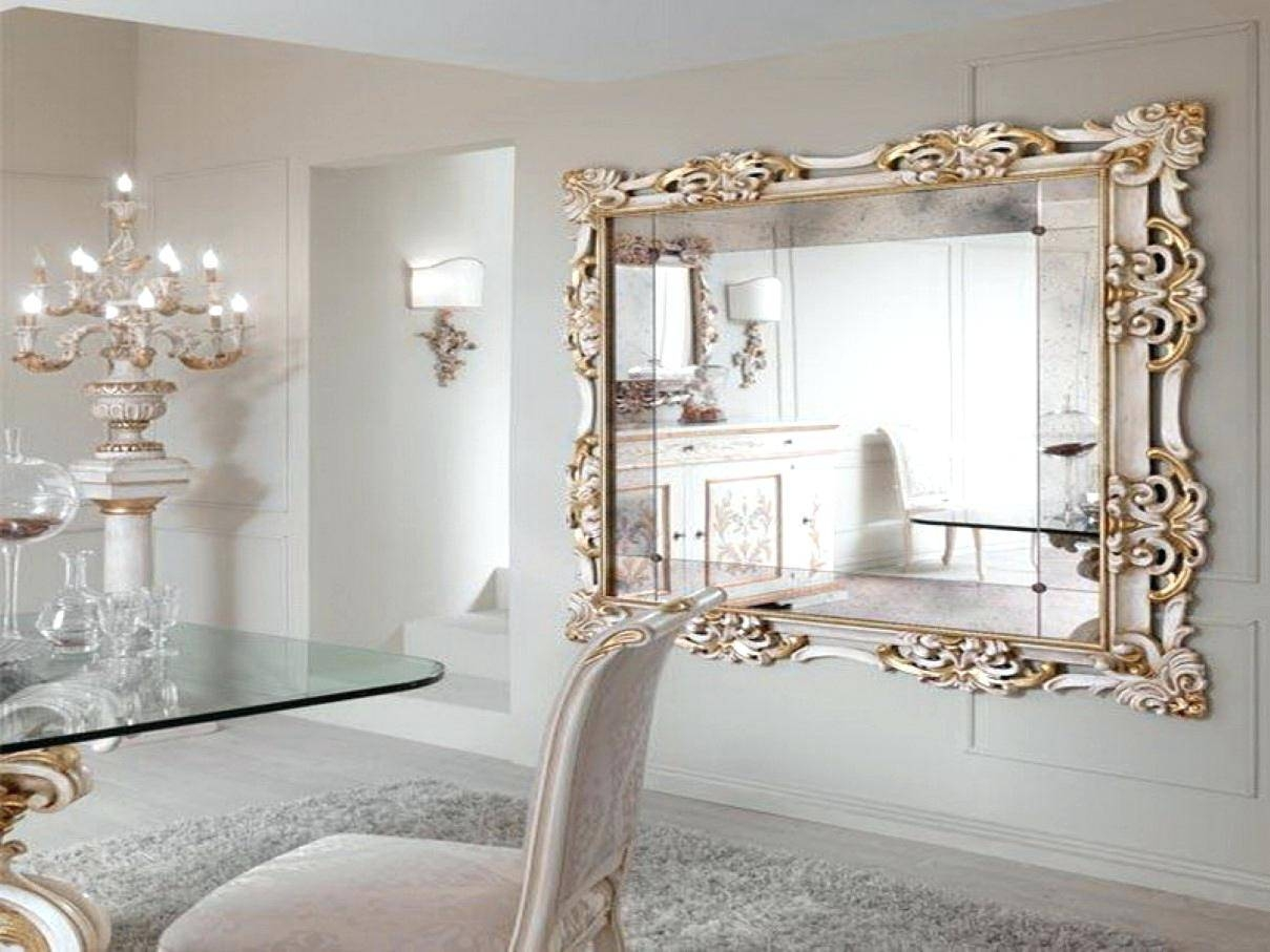 Large Modern Mirror – Shopwiz with Modern Gold Mirrors (Image 16 of 25)