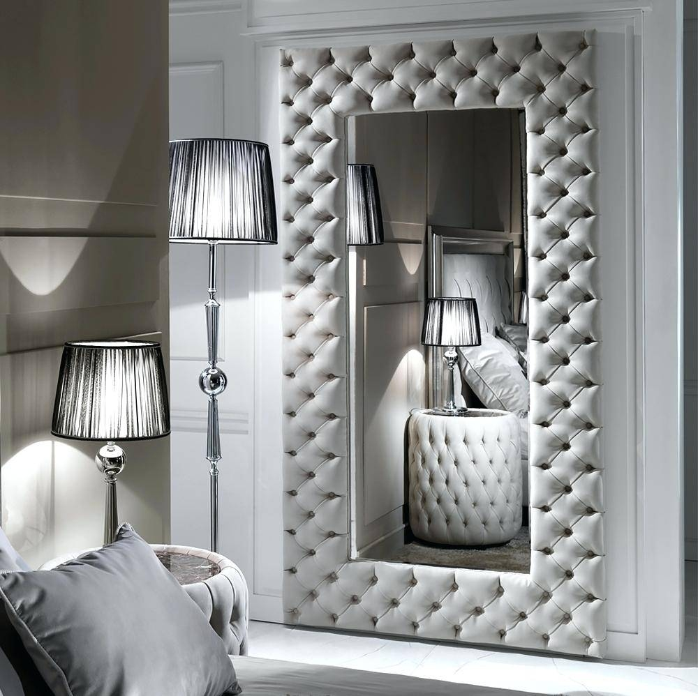 Large Modern Mirror – Shopwiz With Regard To Leather Wall Mirrors (View 20 of 25)
