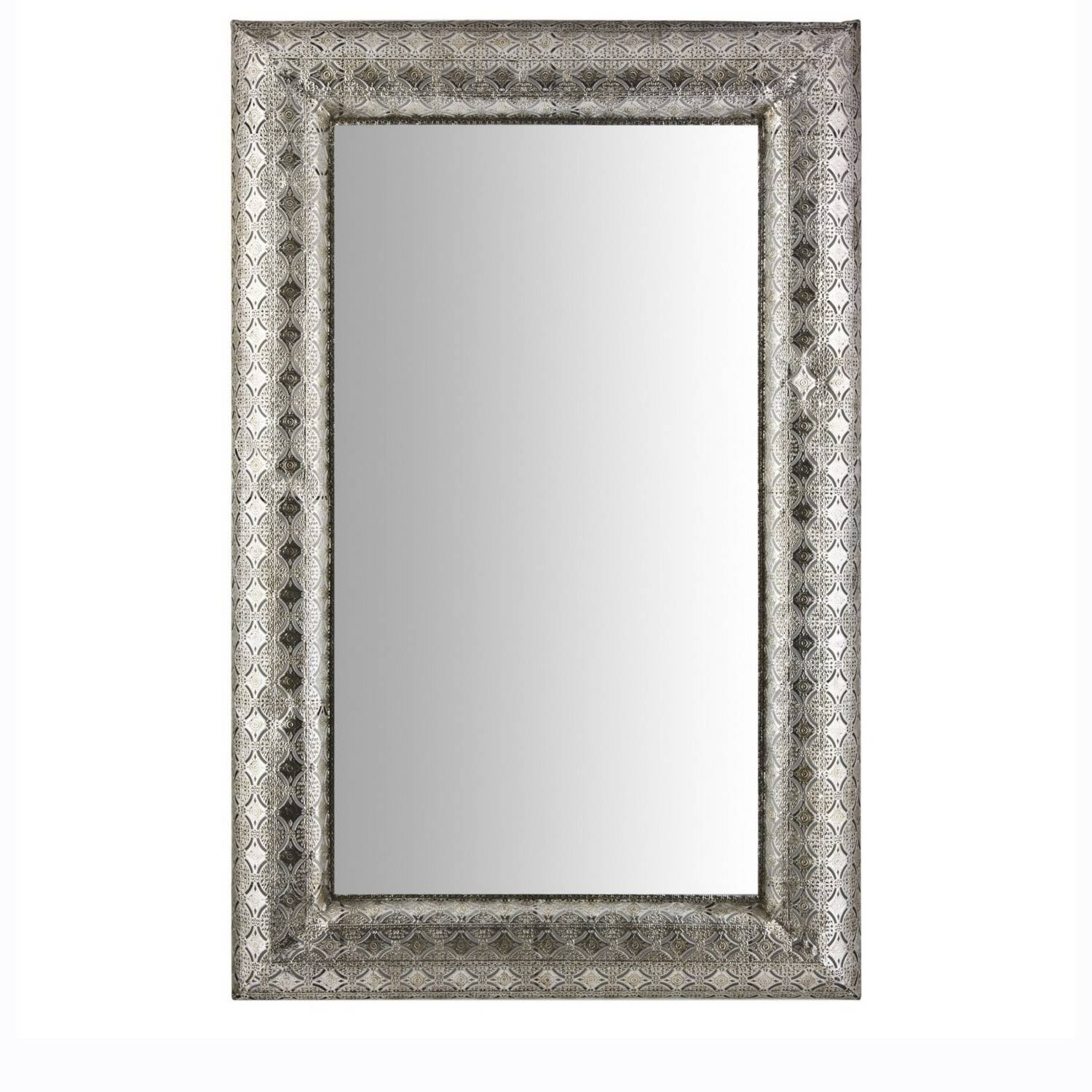 Large Moroccan Mirror throughout Silver Ornate Wall Mirrors (Image 14 of 25)