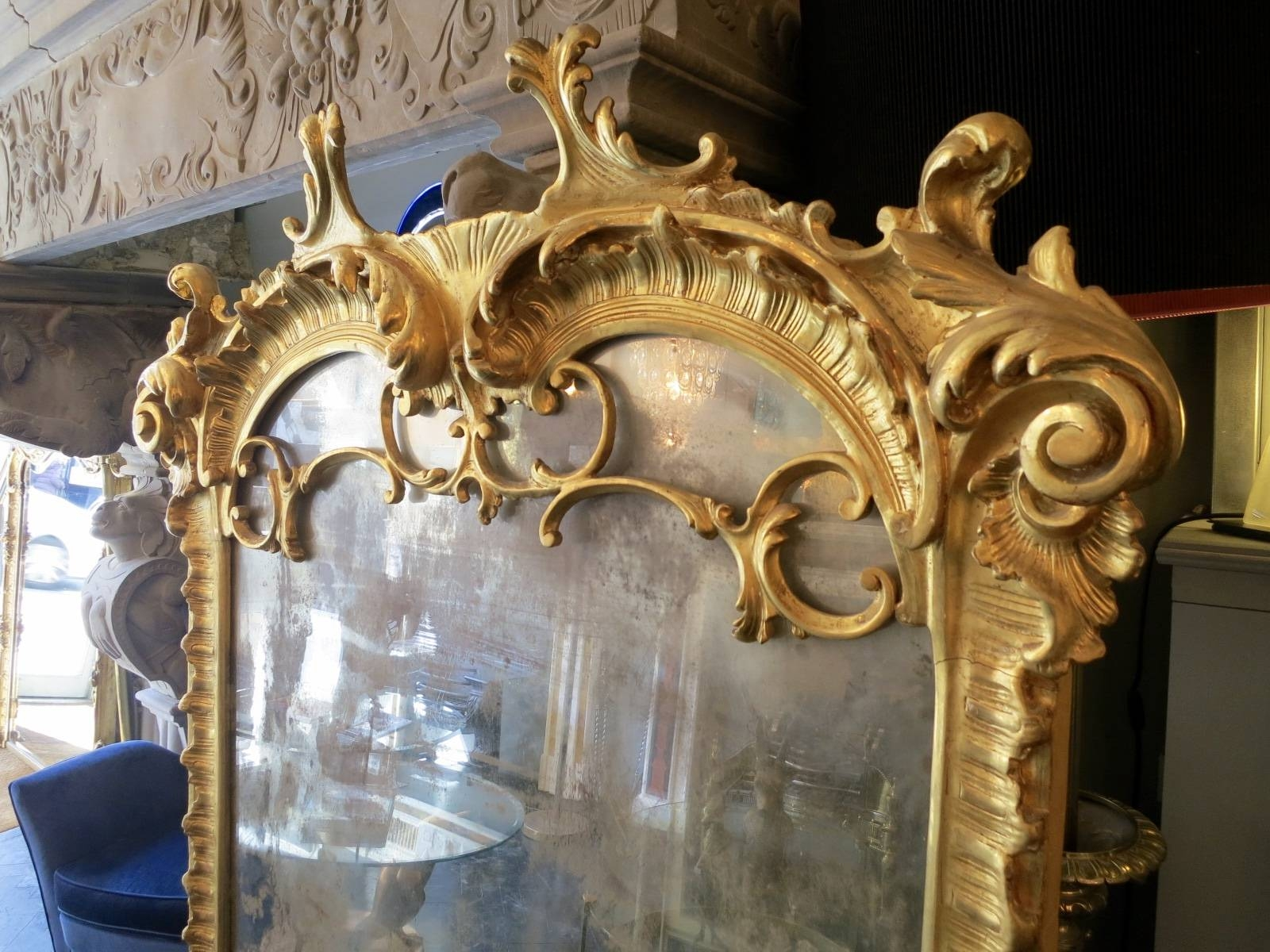 Large Neo-Baroque Mirror For Sale At Pamono regarding Large Baroque Mirrors (Image 21 of 25)