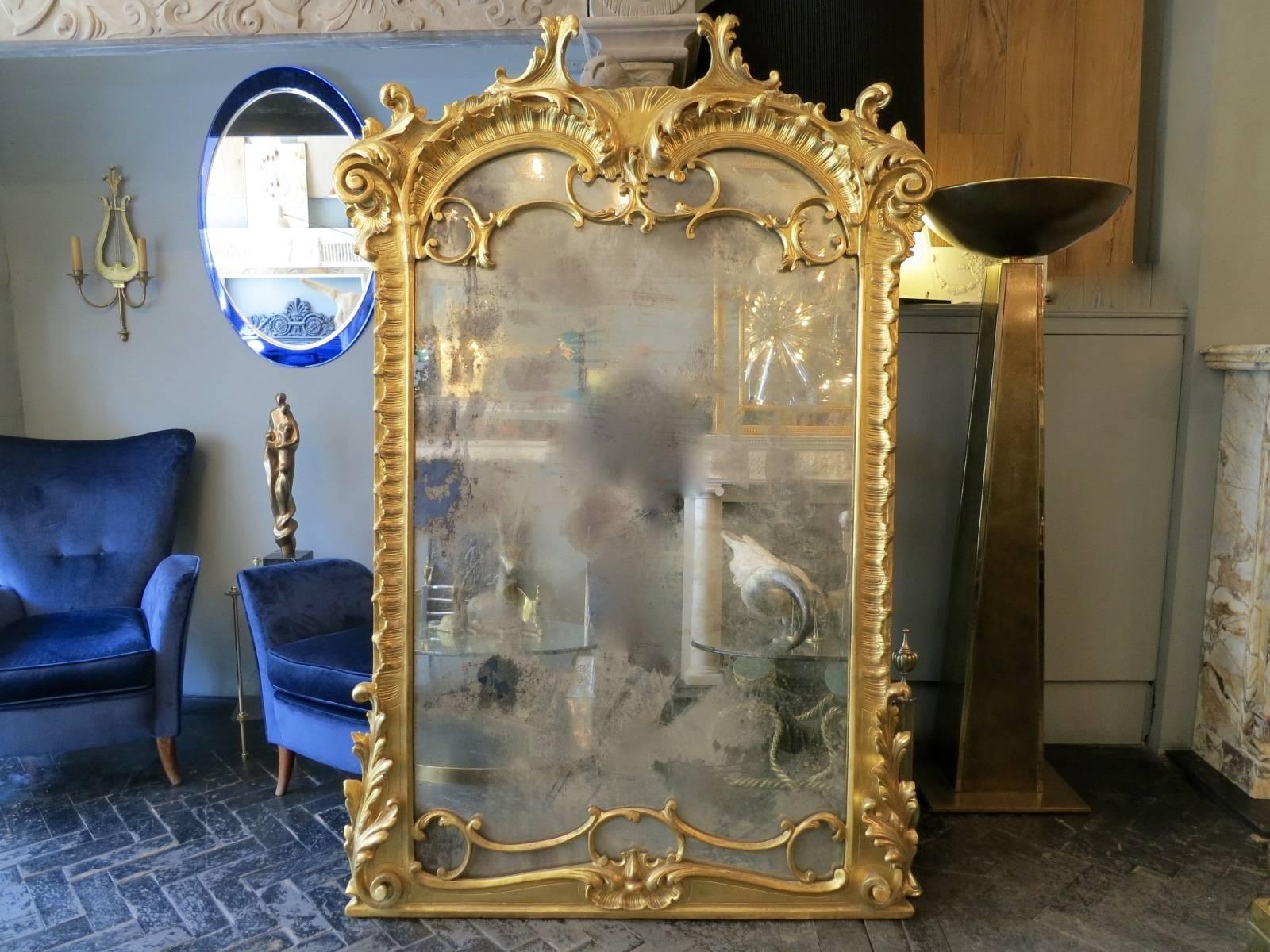 Large Neo-Baroque Mirror For Sale At Pamono regarding Large Baroque Mirrors (Image 20 of 25)