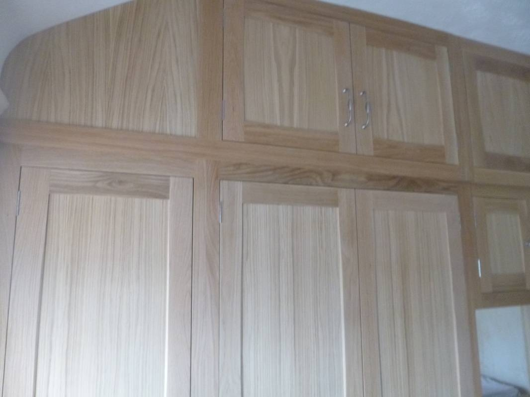 Large Oak Fitted Wardrobes, Before & After - Thorne Woodworking for Solid Wood Fitted Wardrobes (Image 19 of 30)