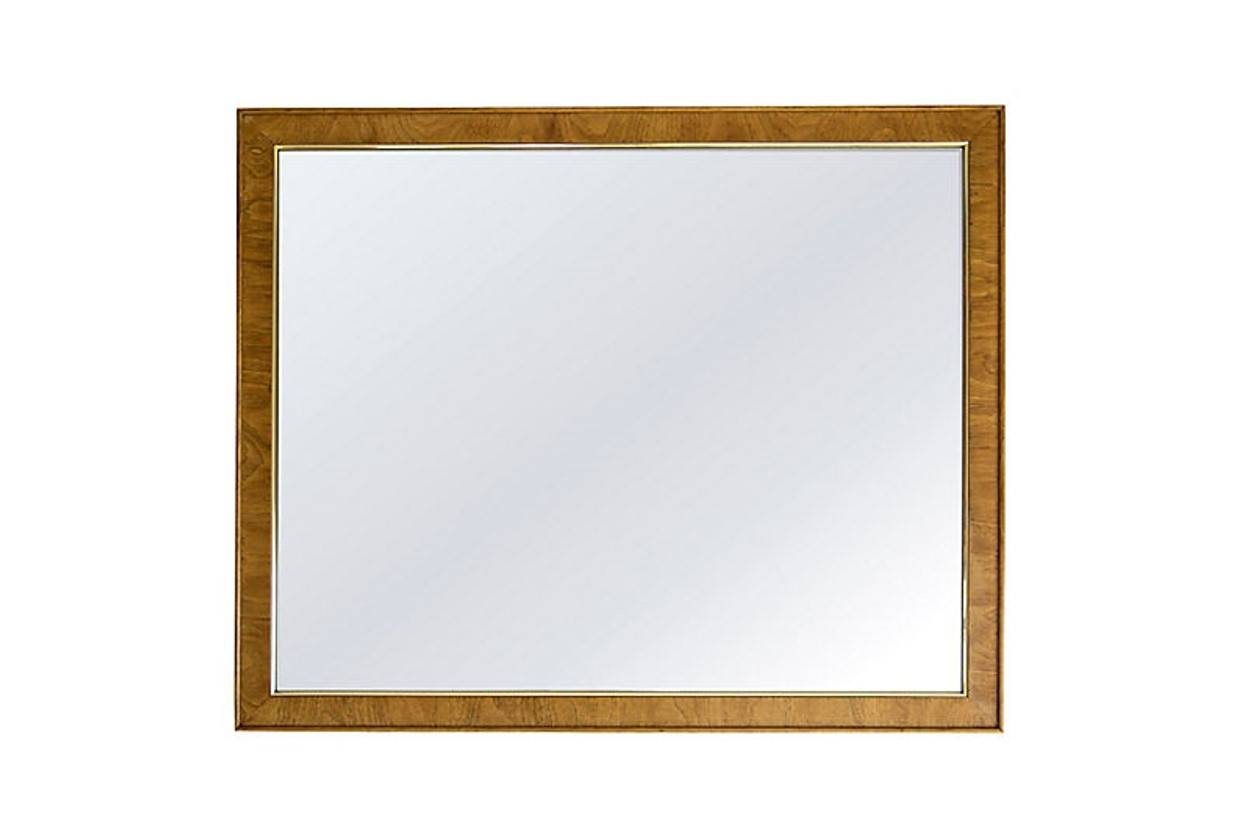Large Oak Mirror With Gold Trim - Janney's Collection with regard to Large Oak Mirrors (Image 9 of 25)