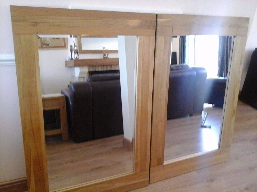 Large Oak Mirrors Sonoma As New Condition X2 Will Seperate | In inside Large Oak Mirrors (Image 10 of 25)