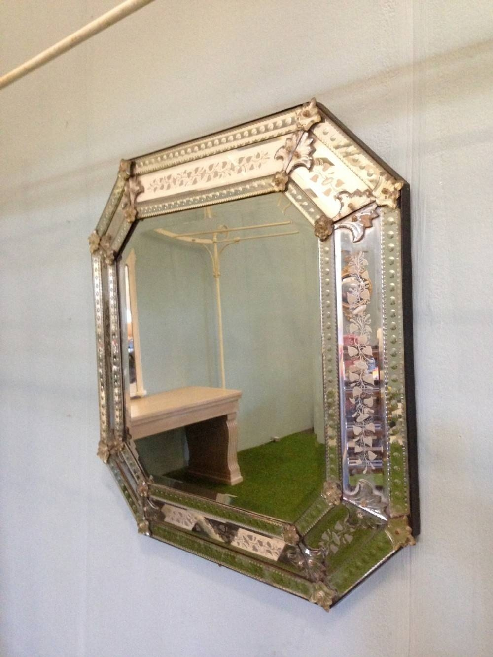 Large Ornate Decorative Wall Mirror — Office And Bedroomoffice And Throughout Large Ornate Mirrors (View 13 of 25)