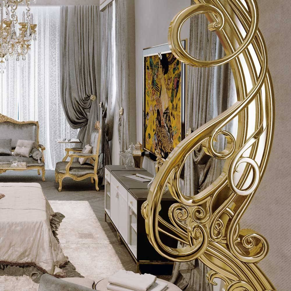Large Ornate Gold Art Deco Wall Mirror | Juliettes Interiors Pertaining To Large Ornate Mirrors (View 15 of 25)