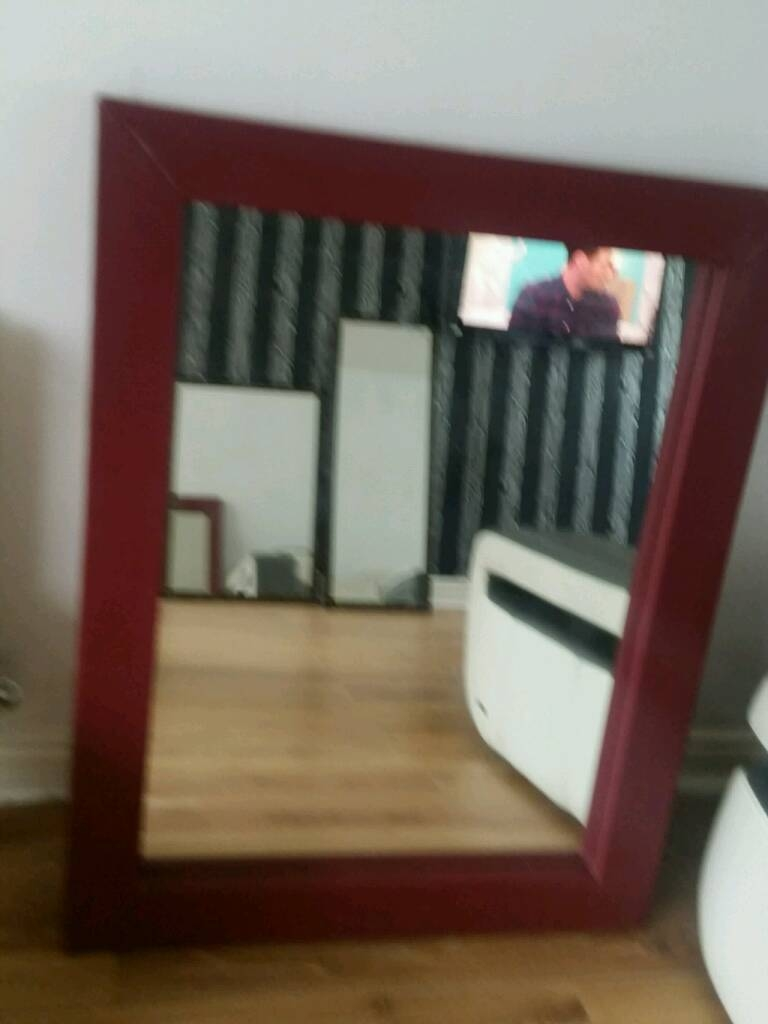 Large Red Leather Mirrors | In Hunslet, West Yorkshire | Gumtree throughout Leather Mirrors (Image 14 of 25)