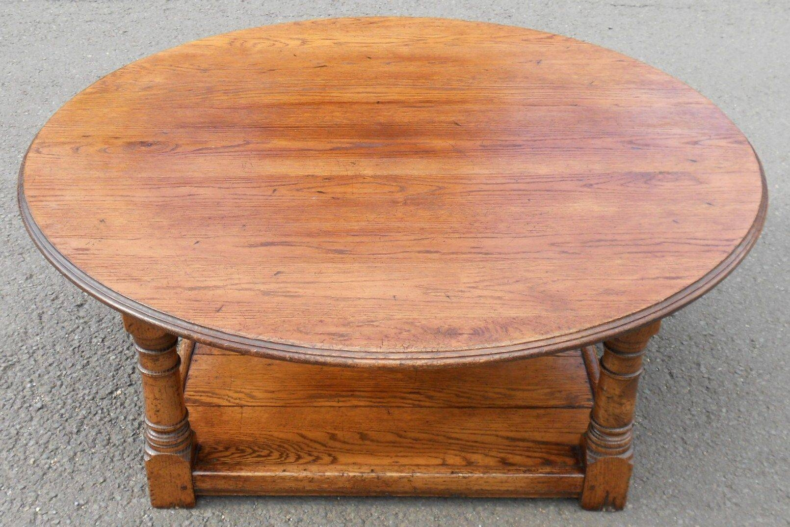 Large Round Coffee Table Wood - Starrkingschool with regard to Oversized Round Coffee Tables (Image 19 of 30)