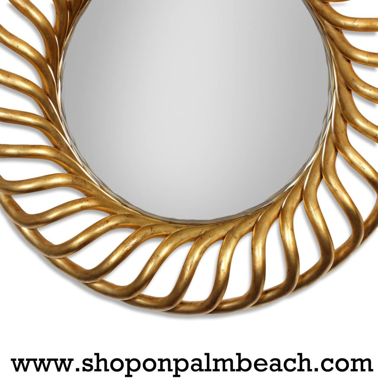 Large Round Gold Gilt Mirror For Sale At 1Stdibs with regard to Gold Round Mirrors (Image 13 of 25)