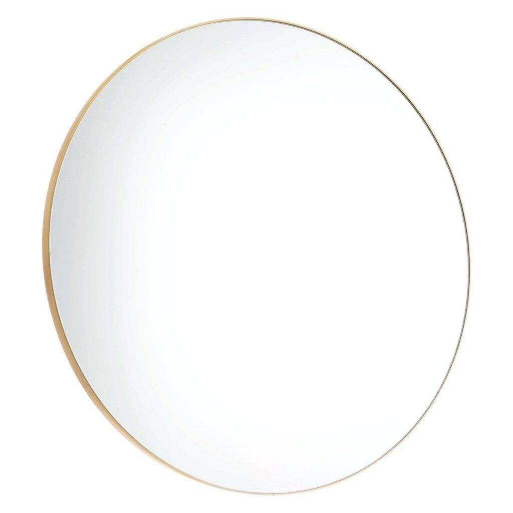 Large Round Mirror Above A Wood Benchvery Uk Wall Mirrors – Shopwiz with Gold Round Mirrors (Image 15 of 25)