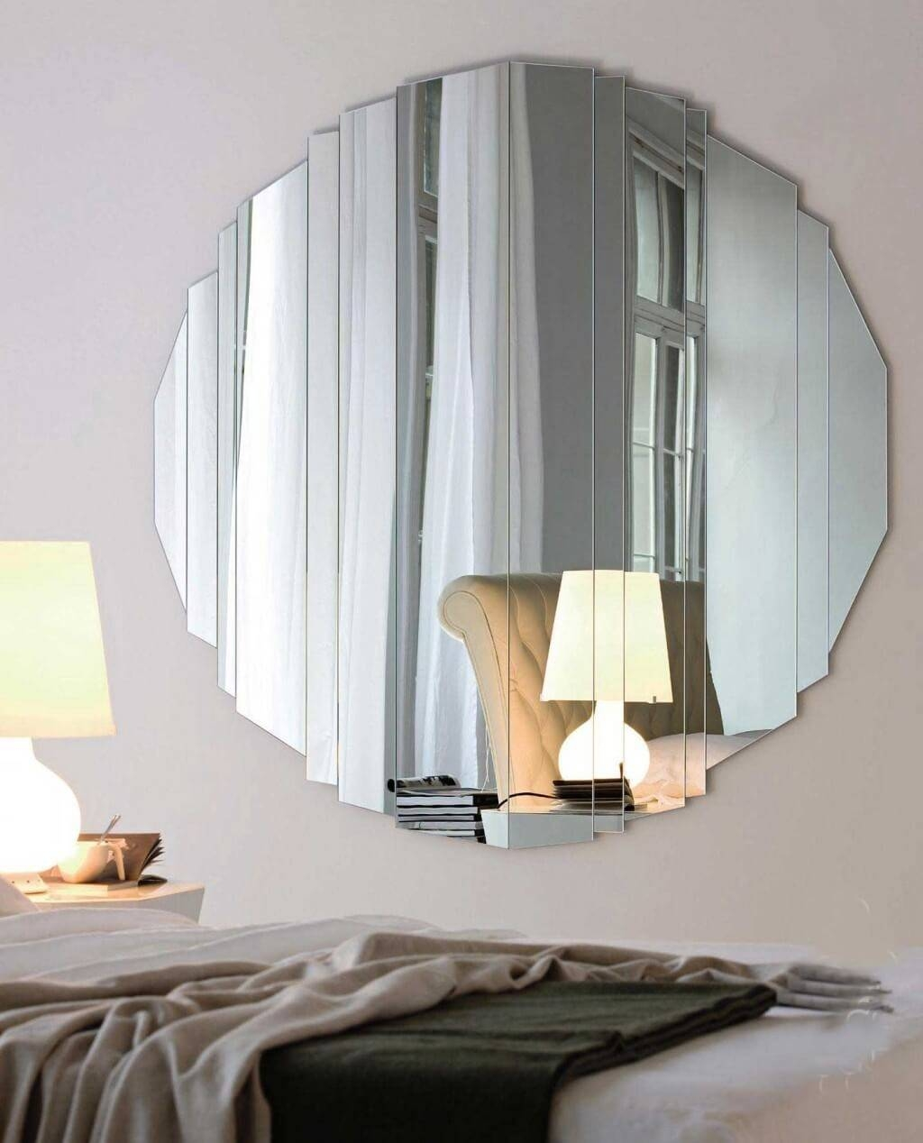 Large Round Mirror Wall Decor : Beauty Round Mirror Wall Decor pertaining to Large Round Mirrors (Image 11 of 25)