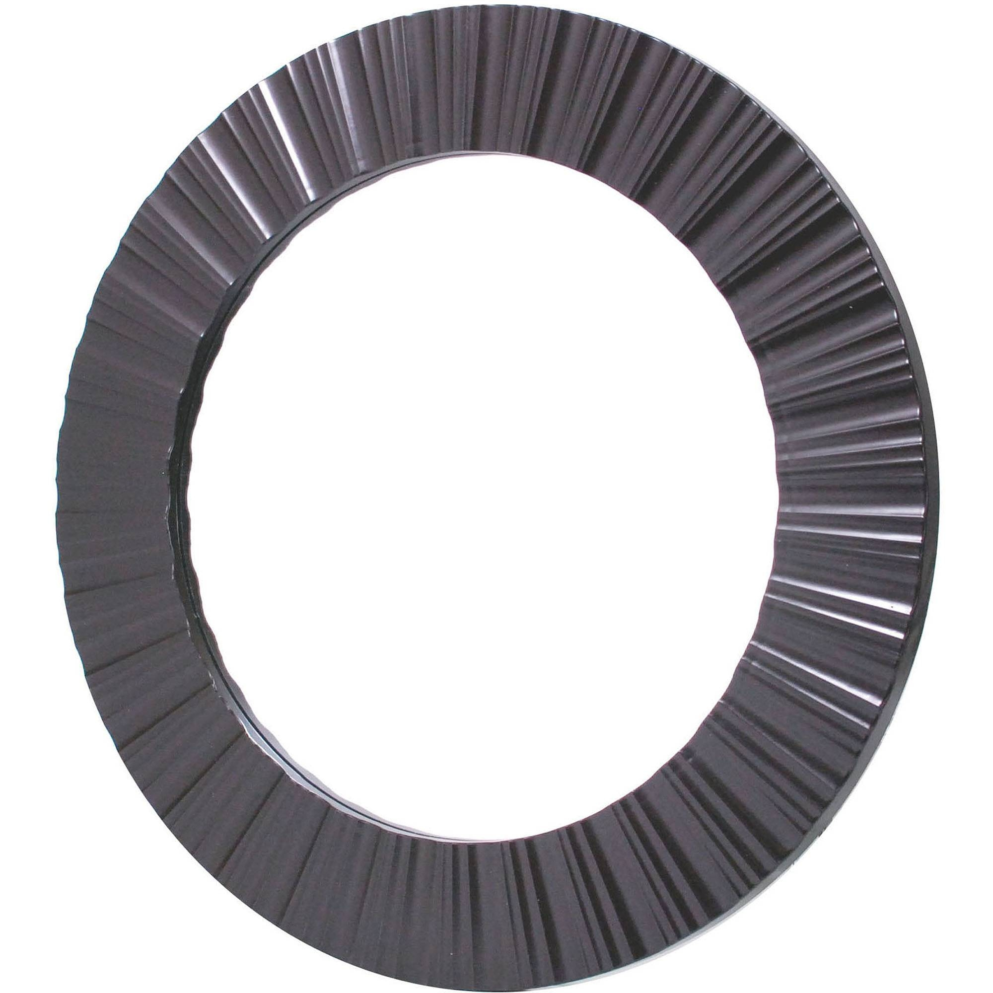 Large Round Mirrors inside Black Round Mirrors (Image 15 of 25)