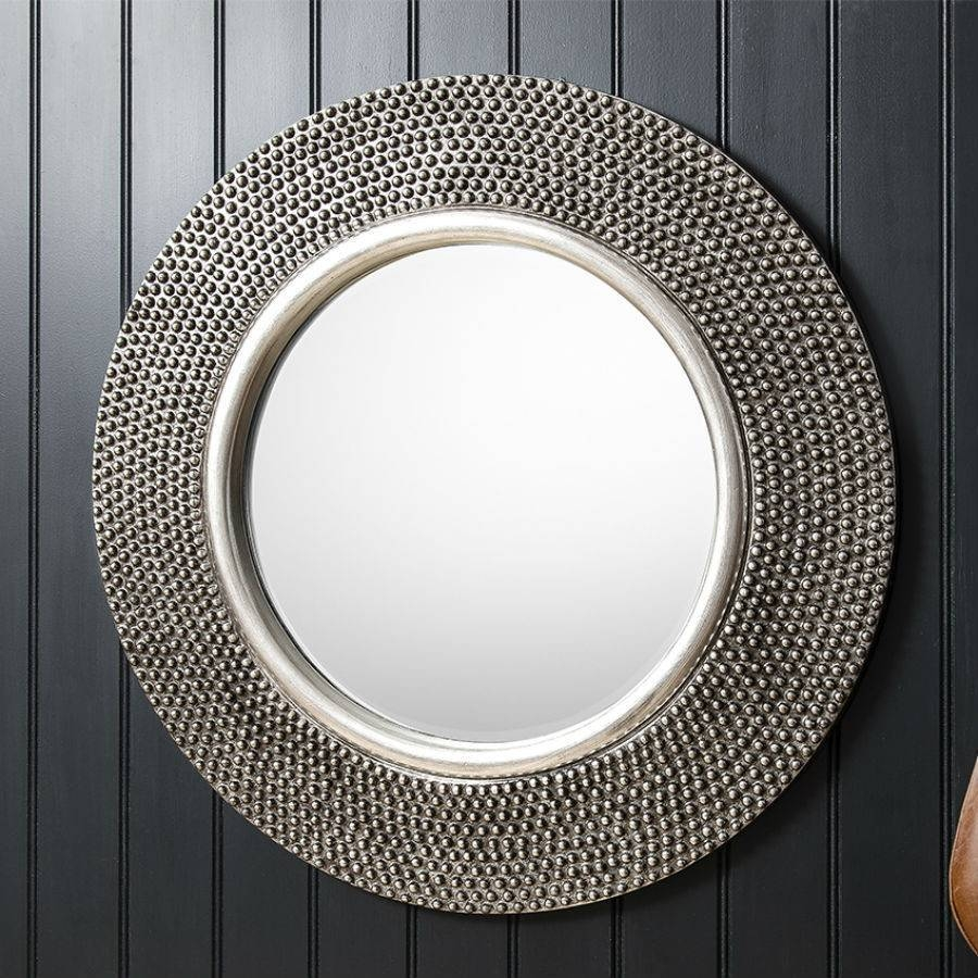 Large Round Silver Mirror 55 Trendy Interior Or Pewter Circular pertaining to Large Pewter Mirrors (Image 14 of 25)