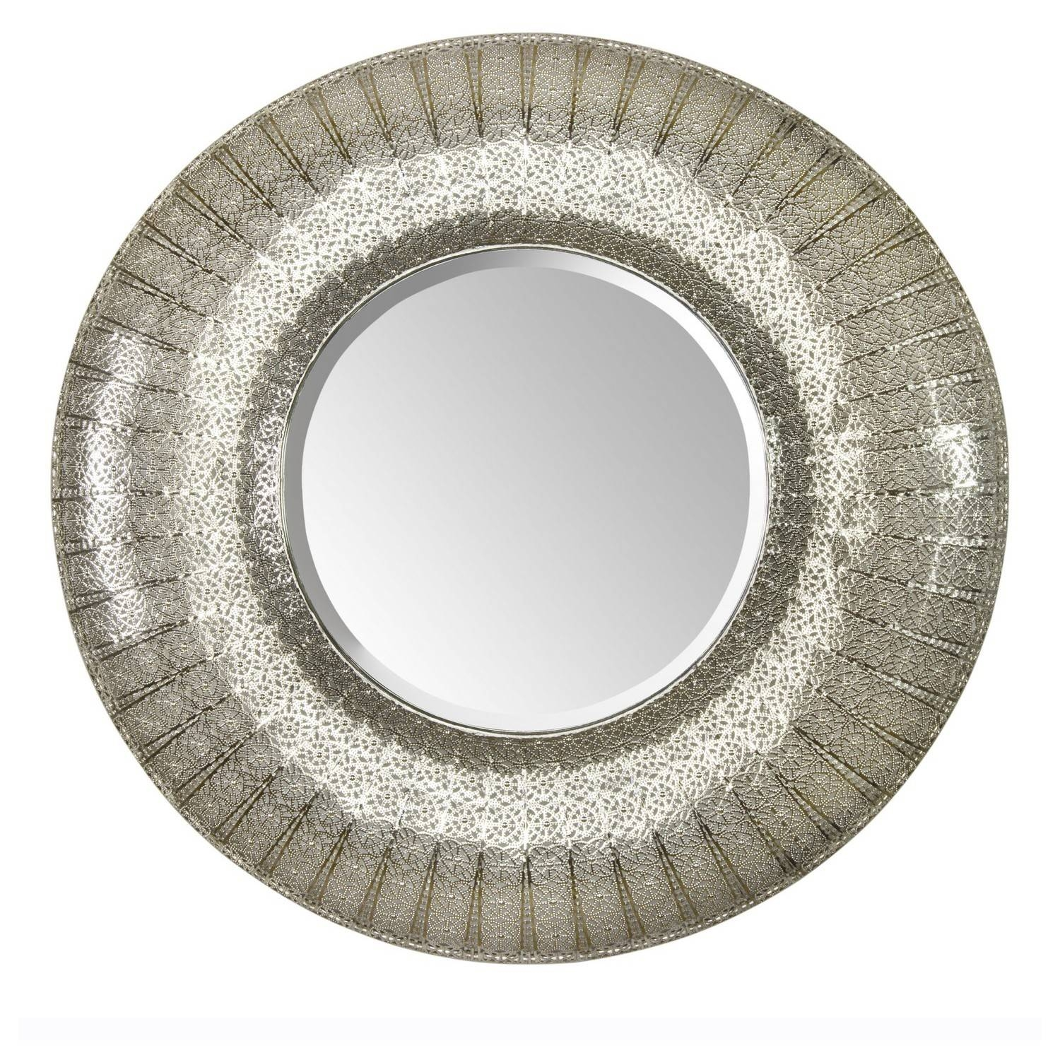 Large Round Silver Mirror 57 Trendy Interior Or Design Wall in Round Large Mirrors (Image 12 of 25)