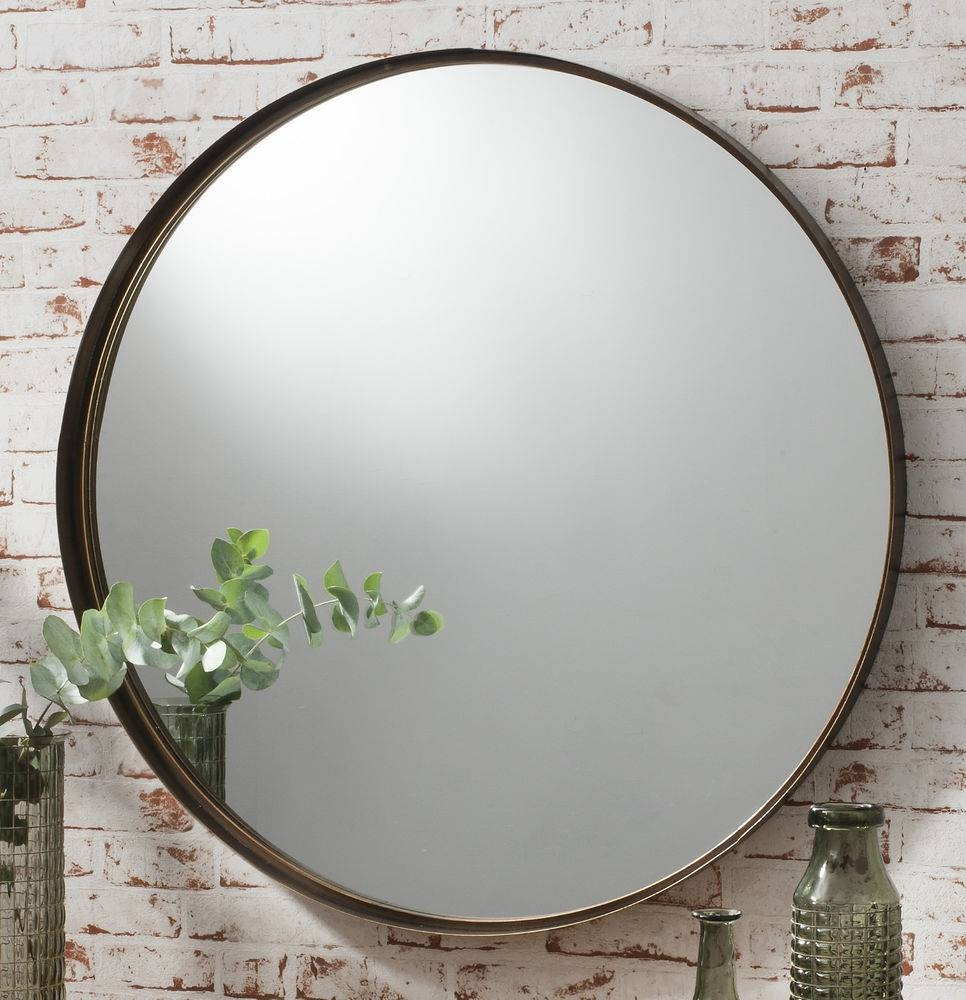 Large Round Wall Mirror 140 Cute Interior And Black Round Wall Throughout Black Round Mirrors (View 16 of 25)
