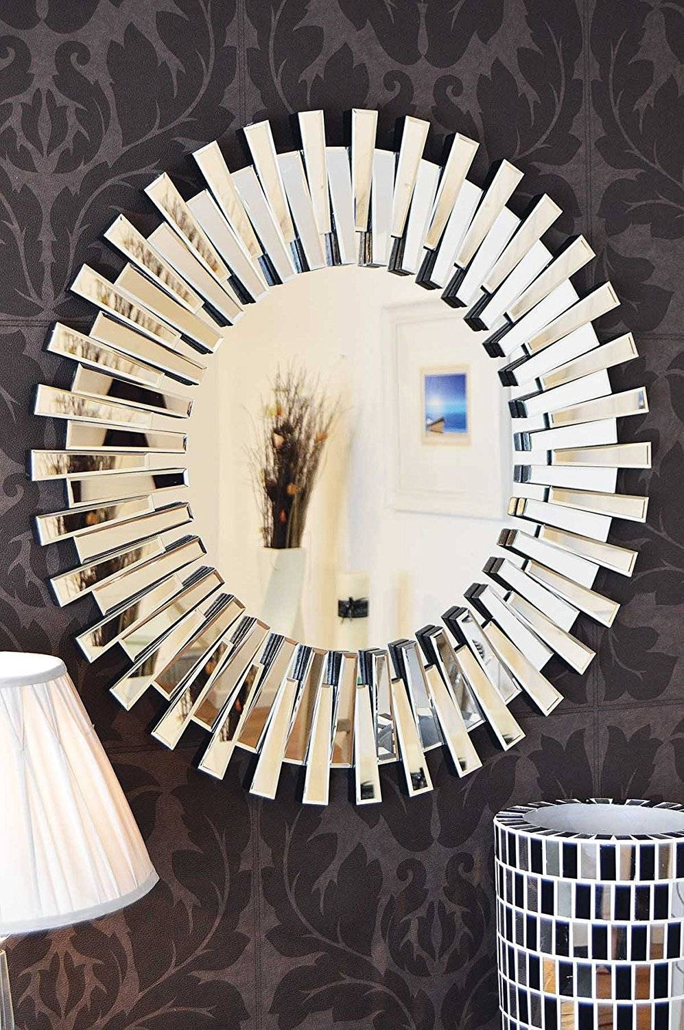 Large Round Wall Mirrors 138 Cool Ideas For Large Round Decorative within Unusual Round Mirrors (Image 16 of 25)
