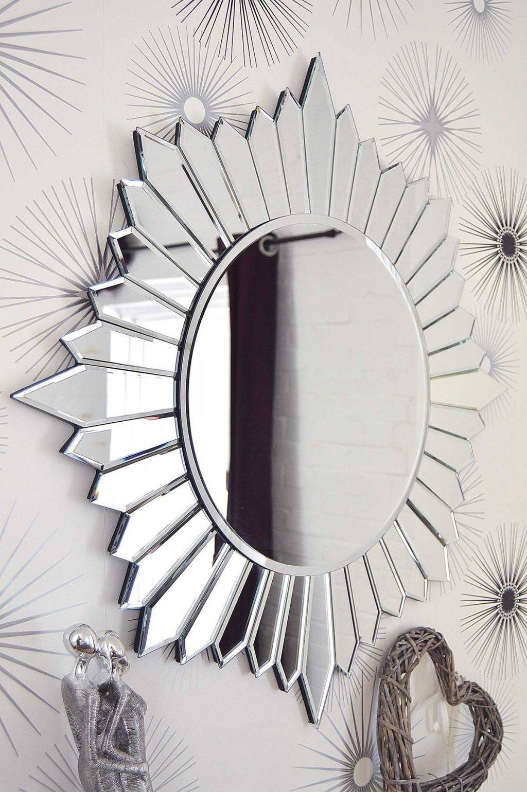 Large Round Wall Mirrors 32 Outstanding For Vintage Wall Mirrors pertaining to Extra Large Sunburst Mirrors (Image 19 of 25)