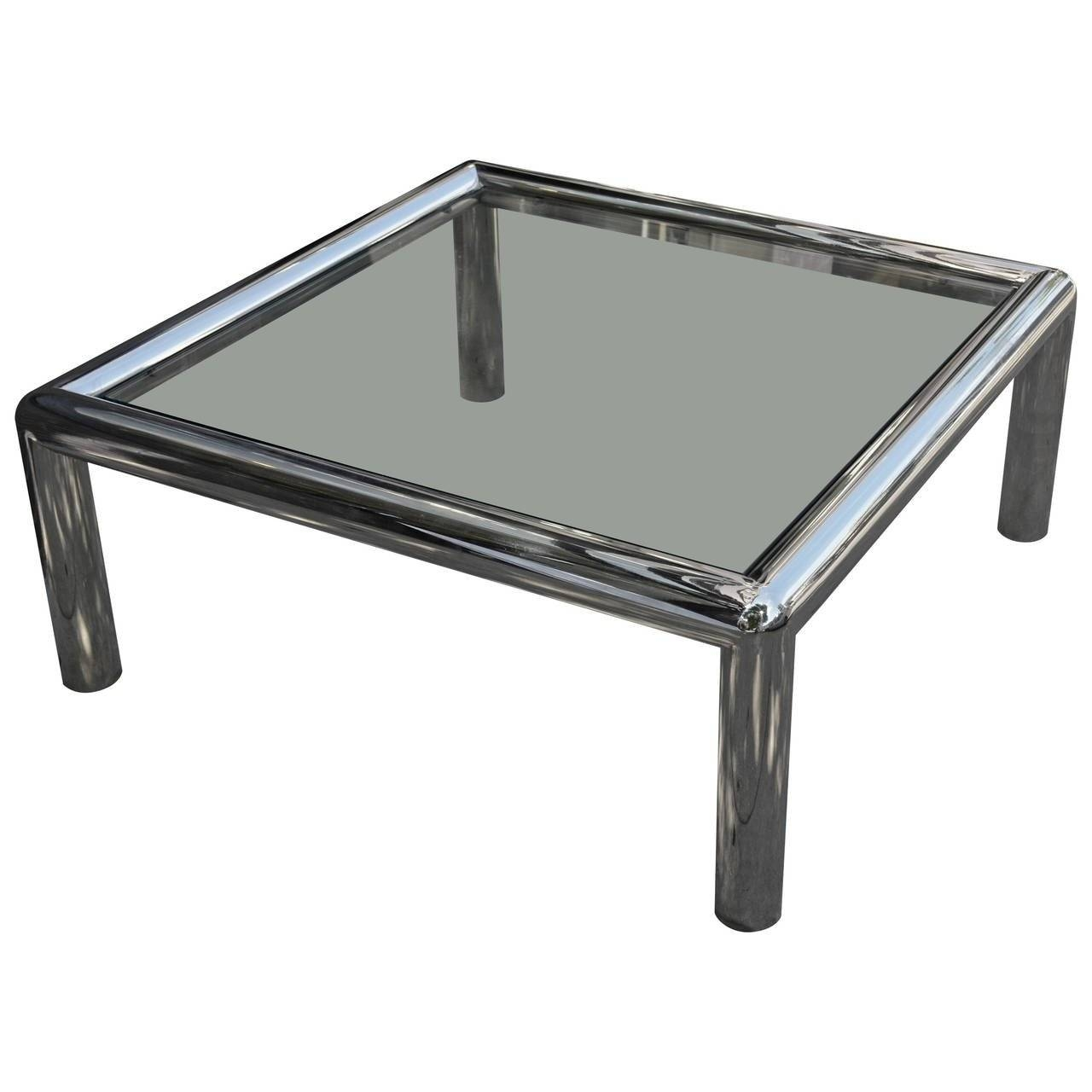 Large-Scale Vintage Tubular Chrome Coffee Table At 1Stdibs inside Chrome Coffee Tables (Image 18 of 30)