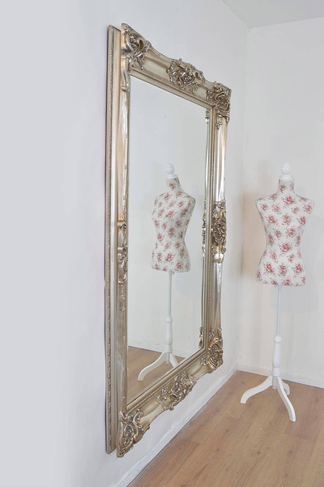 Large Silver Ornate Wall Mirror 122Cm X 183Cm | Large Mirrors throughout Silver Ornate Framed Mirrors (Image 9 of 25)
