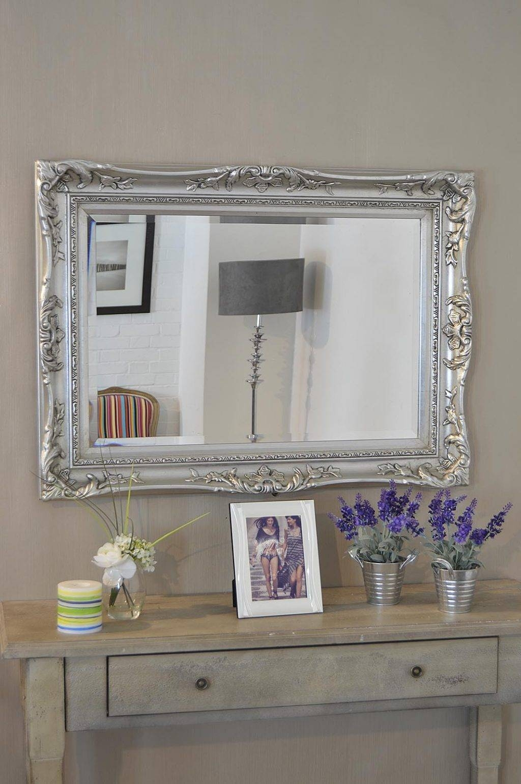 Large Silver Wall Mirror 46 Fascinating Ideas On Large Wall Pertaining To Ornate Wall Mirrors (View 19 of 25)