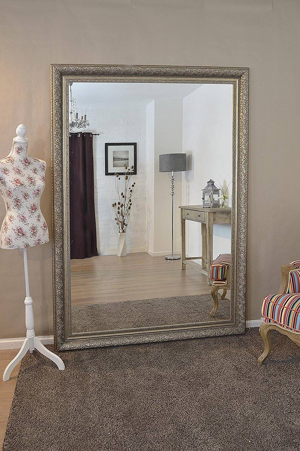 Large Silver Wall Mirror 57 Nice Decorating With Large Ornate Wall Within Extra Large Ornate Mirrors (View 18 of 25)