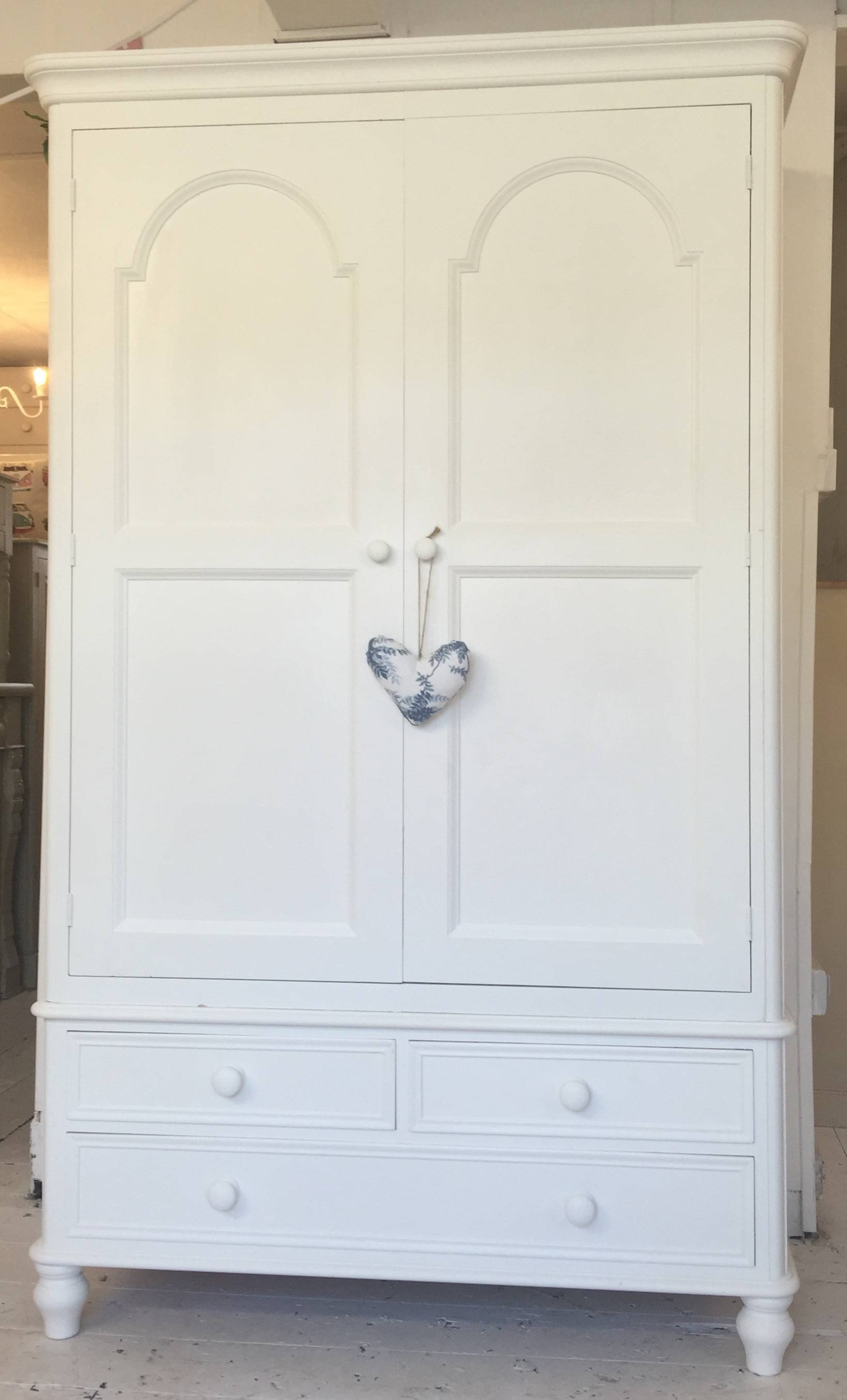 Large Solid Pine White Painted Wardrobe - Home Sweet Homehome throughout White Pine Wardrobes (Image 10 of 15)