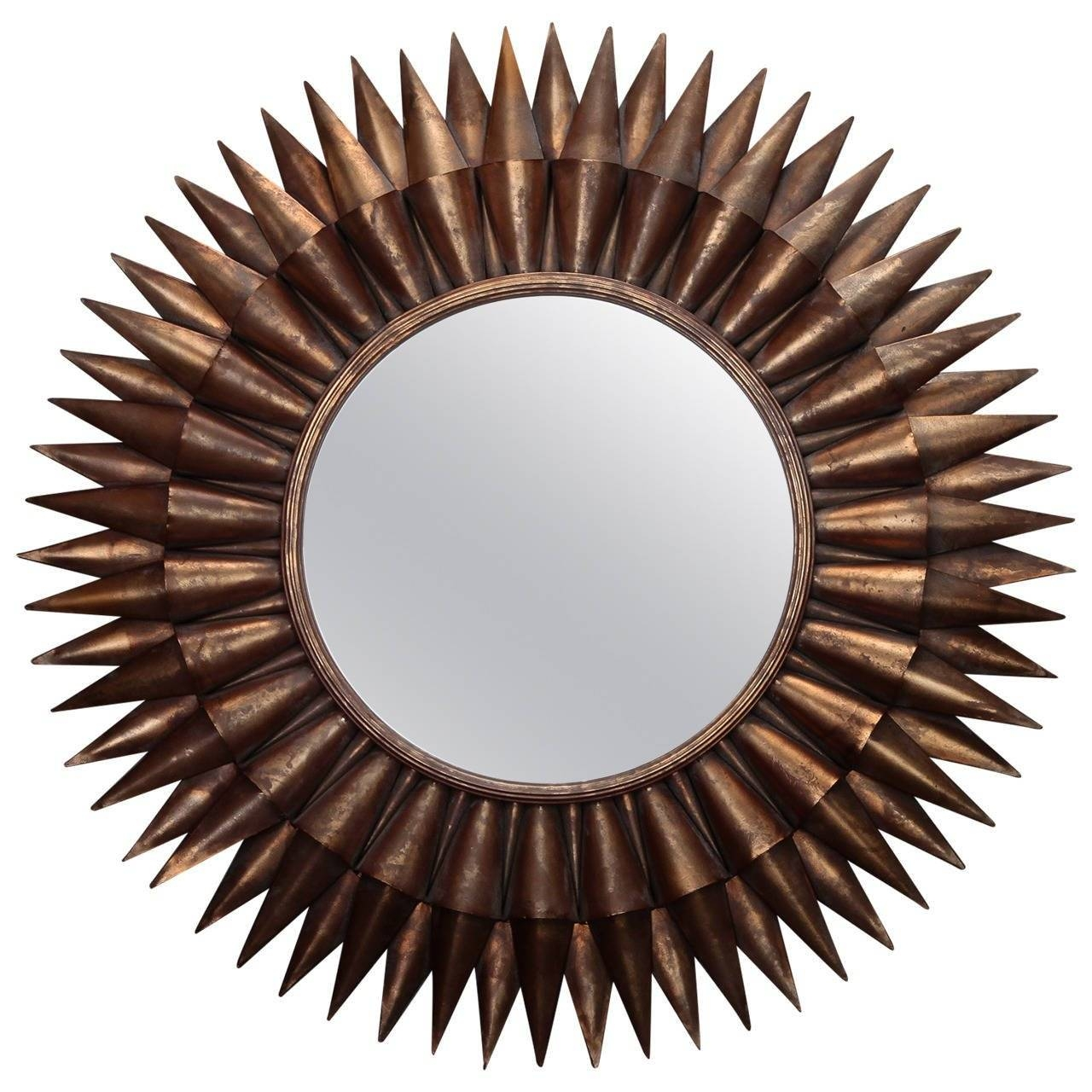 Large Spanish Gilt Sunburst Mirror For Sale At 1Stdibs with regard to Large Sunburst Mirrors (Image 18 of 25)