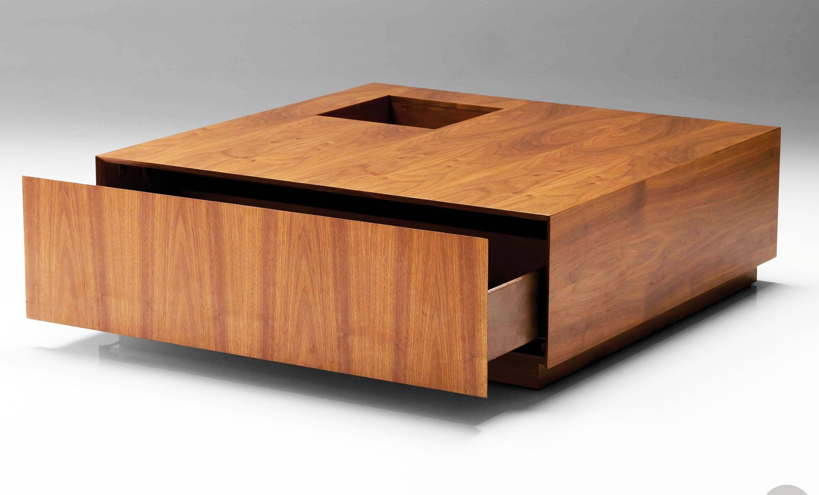 Large Square Coffee Tables | Homefurniture for Low Square Coffee Tables (Image 12 of 30)