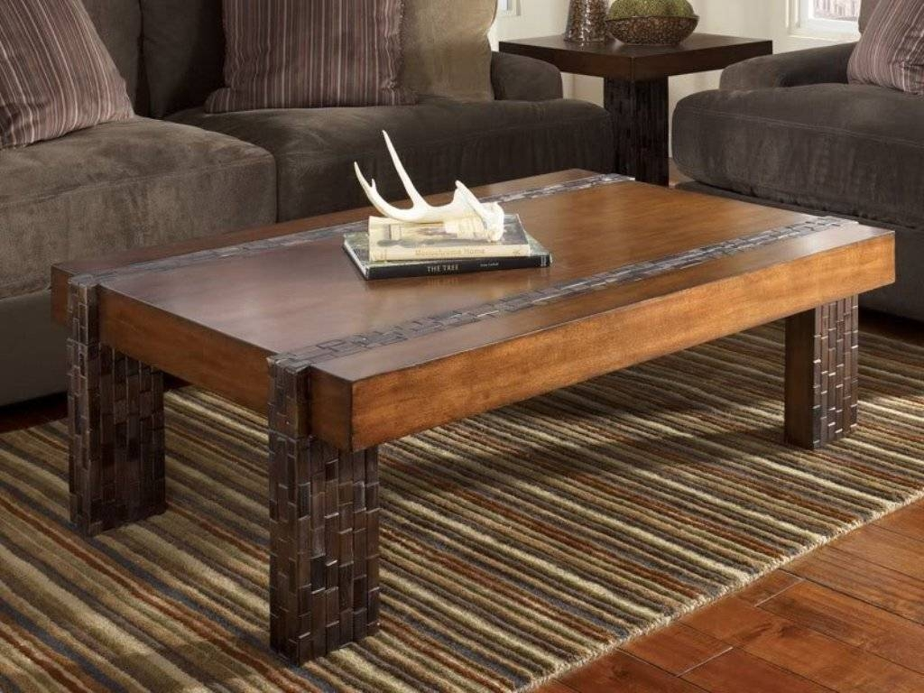 Large Square Rustic Wood Coffee Table : Build Rustic Wood Coffee intended for Large Square Wood Coffee Tables (Image 23 of 30)