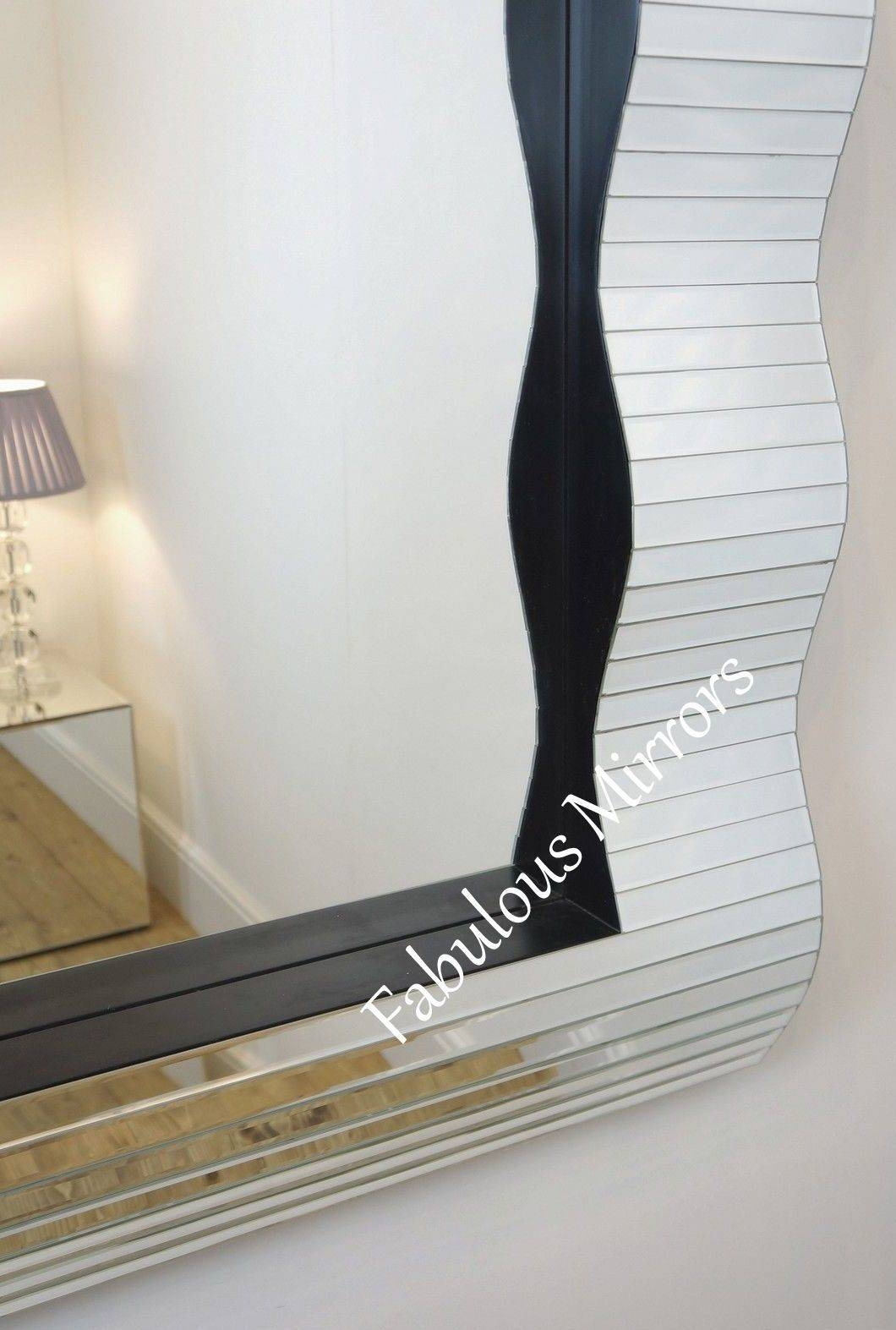 Large Stunning Contemporary Wave 3D Art Deco Inspired Venetian for Art Deco Venetian Mirrors (Image 15 of 25)